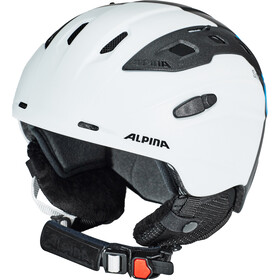 Alpina Snowmythos Casco, white-silver-blue matt